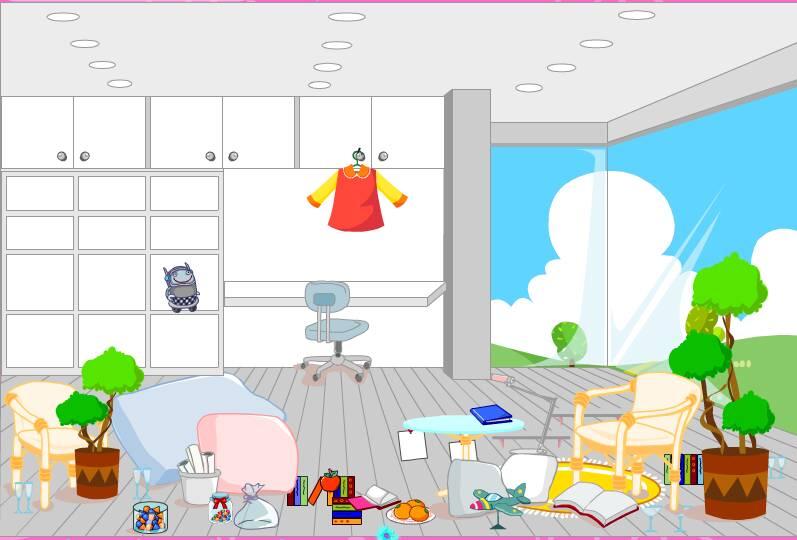 jeu de fille d corer et ranger la chambre de fanny. Black Bedroom Furniture Sets. Home Design Ideas