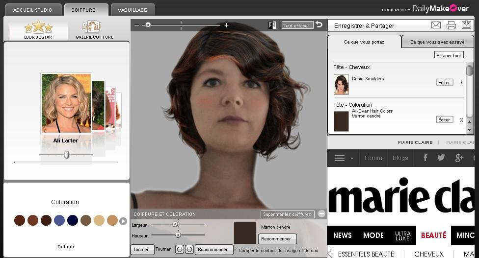 Logiciel de relooking gratuit coiffure maquillage - Relooking avec photo ...