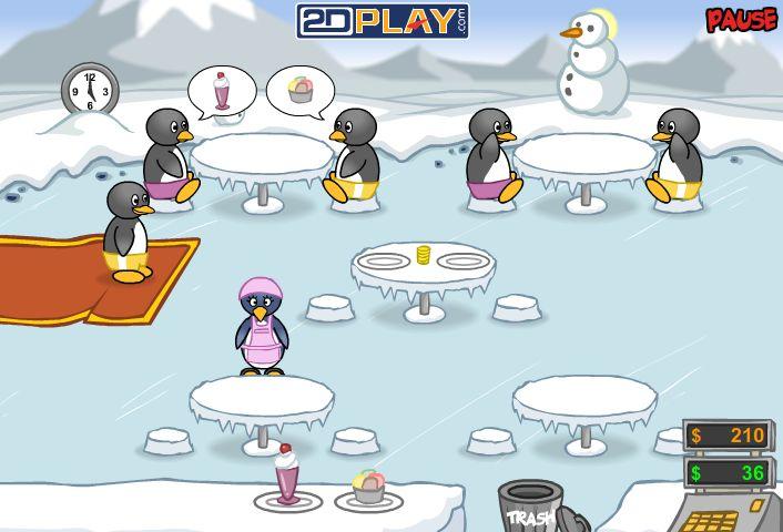 Jeu de serveuse penny pingouin pinguin diner - Jeux de fille cuisine serveuse ...