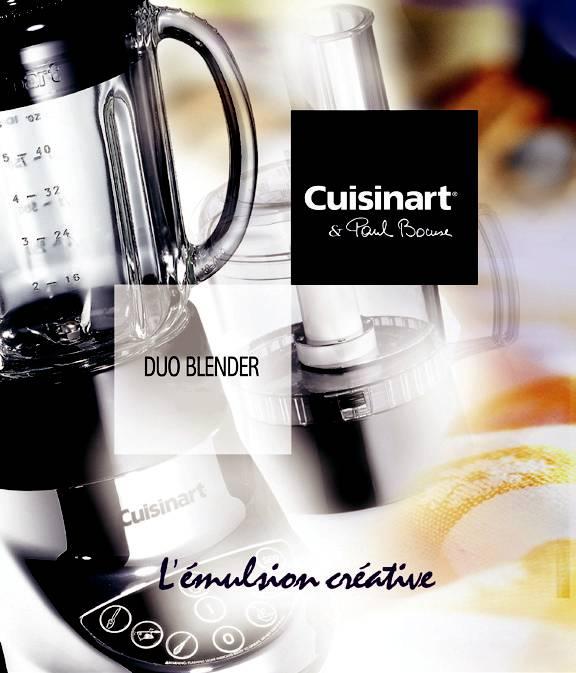 Cuisiner est un vrai plaisir avec cuisinart - Cuisiner avec un blender ...