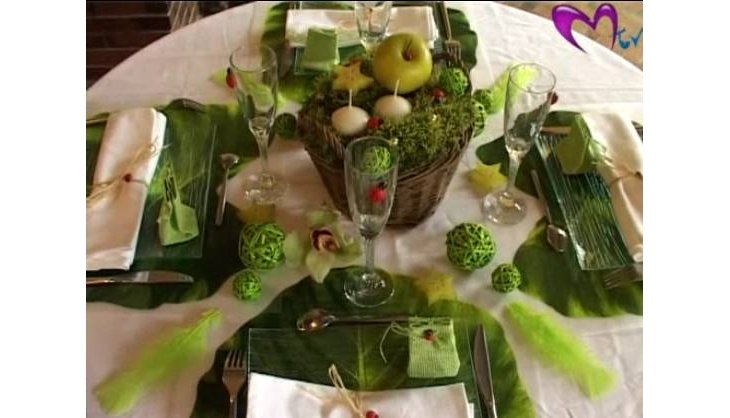 Art de la table : décoration d'une table nature