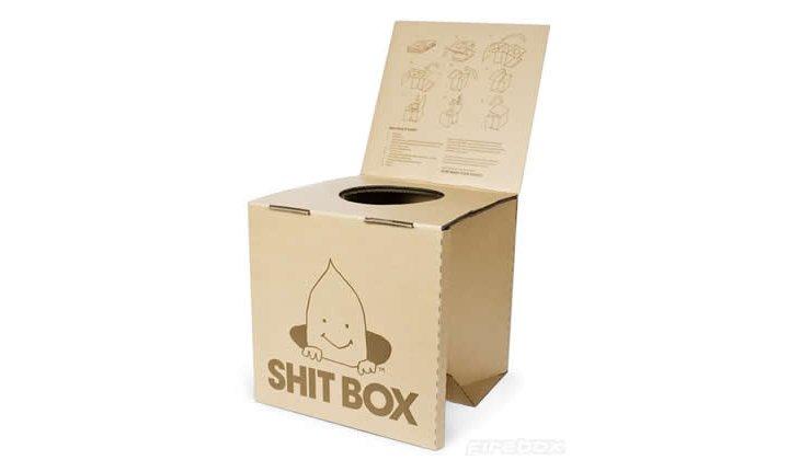 Shit Box : Toilette Sèche Biodégradable En Carton ❤️