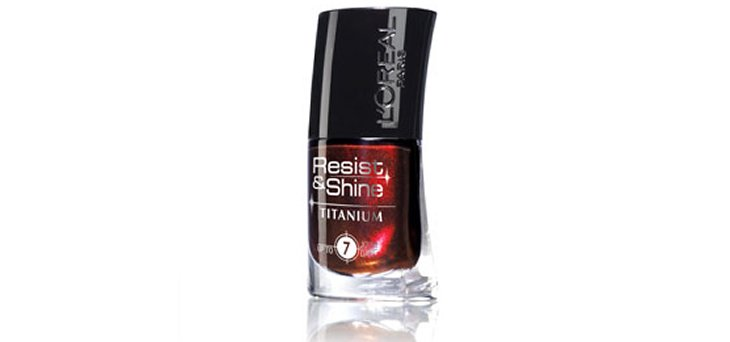 Le vernis Resist And Shine Titanium Black de l'Oréal