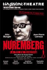 Théâtre - Nuremberg - La fin de Goering