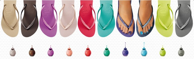 Tongs Slim Havaianas et vernis SinfulColor for Galeries Lafayette Collection été 2011